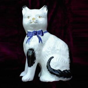 19th C. Staffordshire Cat Figure
