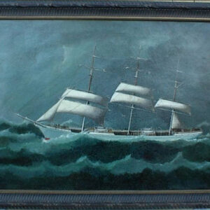 19th C. China Trade Ship Portrait
