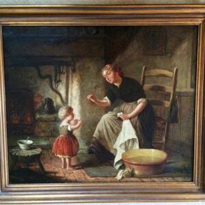 Early 19th Century Genre Oil Painting