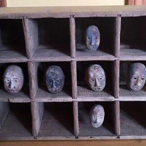 Folk Art Mask Shadowbox